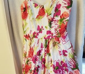 Womens short strapless floral dress new  size 6
